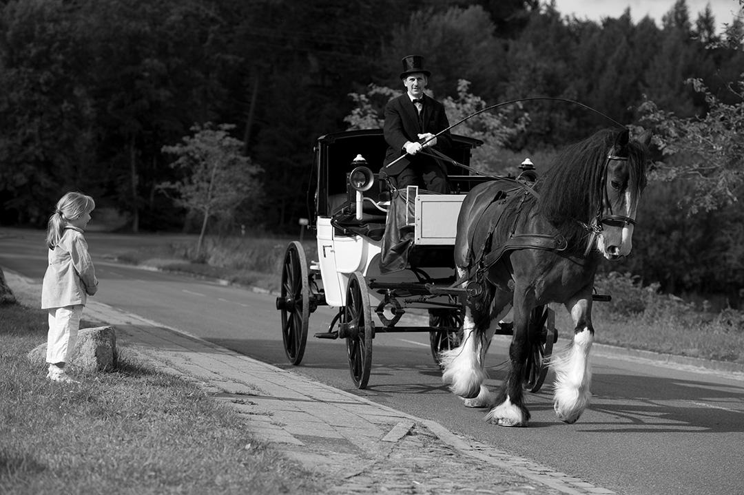 Rudek Fotografie - Hochzeitskutsche auf dem Weg